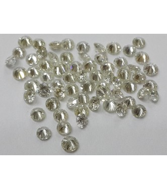 10pc 1.8mm Size SI Clarity H Color Natural Loose Brilliant Cut Round Real Diamond