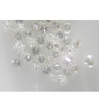 0.8-1mm Natural Loose Round Brilliant Cut Diamonds 20pc VS Clarity G Color for Setting