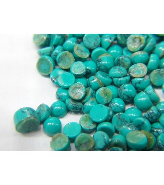 3mm Loose Turquoise Lot 20cts 160pc Lot Round Cabochon Matrix Lines