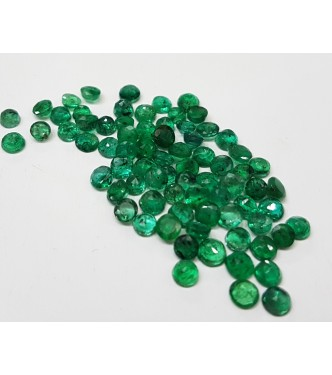 2.8-3.1mm Natural Loose abnjewellers Brazil Green Emerald 2cts for Setting