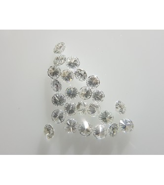 1-1.1mm 20pc VS Clarity F Color Natural Loose Brilliant Cut Diamonds Round for Setting