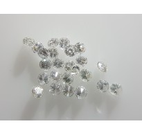 1.2mm 10pc VVS-VS Clarity E Color Natural Loose Brilliant Cut Diamond