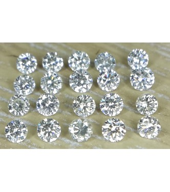1.9mm 20pc Natural Loose Brilliant Cut Diamonds I1 Clarity J Color Round for Setting