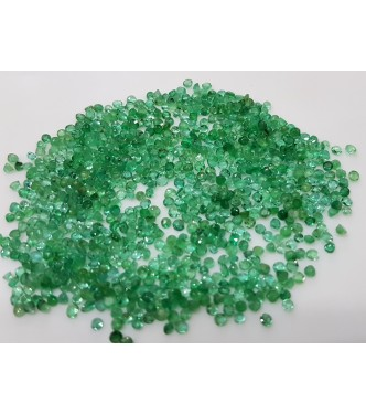 1.9-2.1mm 60pc Lot 2cts Natural Loose Emerald Brazil Origin Leaf Green Color Light
