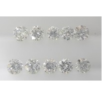 1.7mm Natural Loose Round Brilliant Cut Diamonds 10pc VS Clarity G Color for Setting