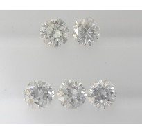 5pc 2.9mm Natural Loose Round Brilliant Cut Diamonds VS Clarity G Color for Setting