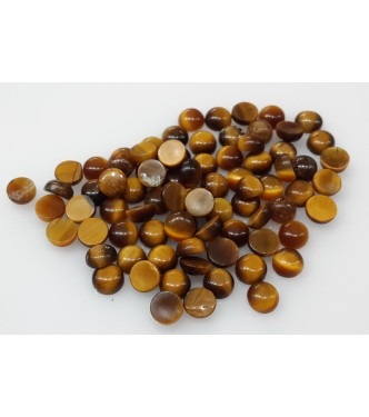 Natural Loose Tiger Eye Gemstone 4mm Cabochon for Setting